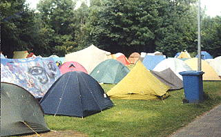 Typical European city campground