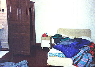 Typical developing country clean hotel room